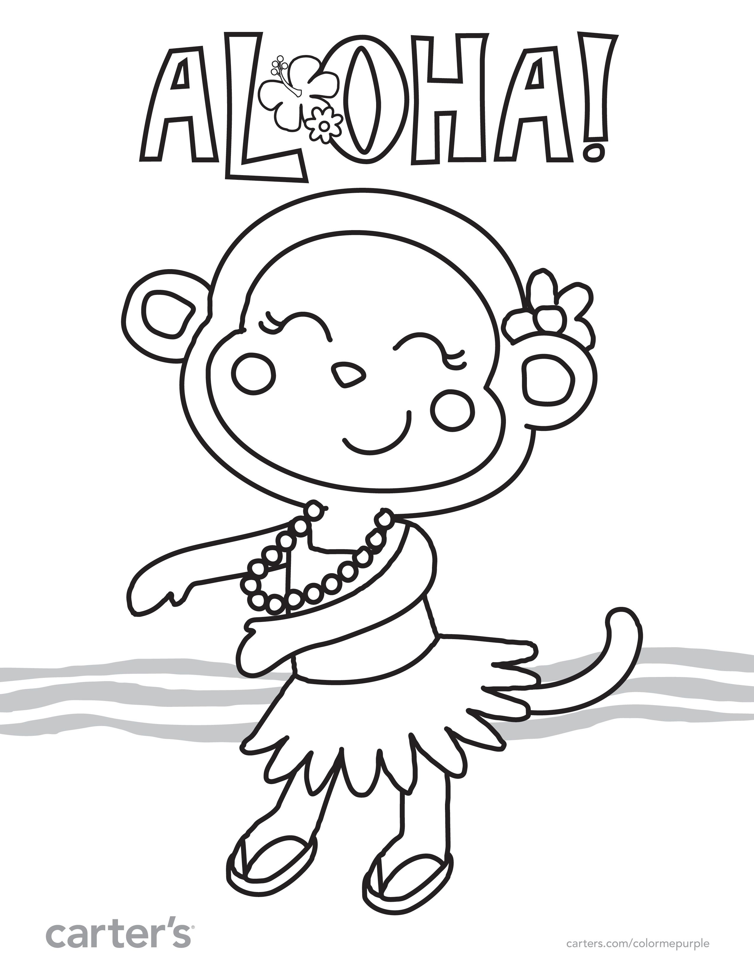 Aloha Coloring Pages At Getdrawings