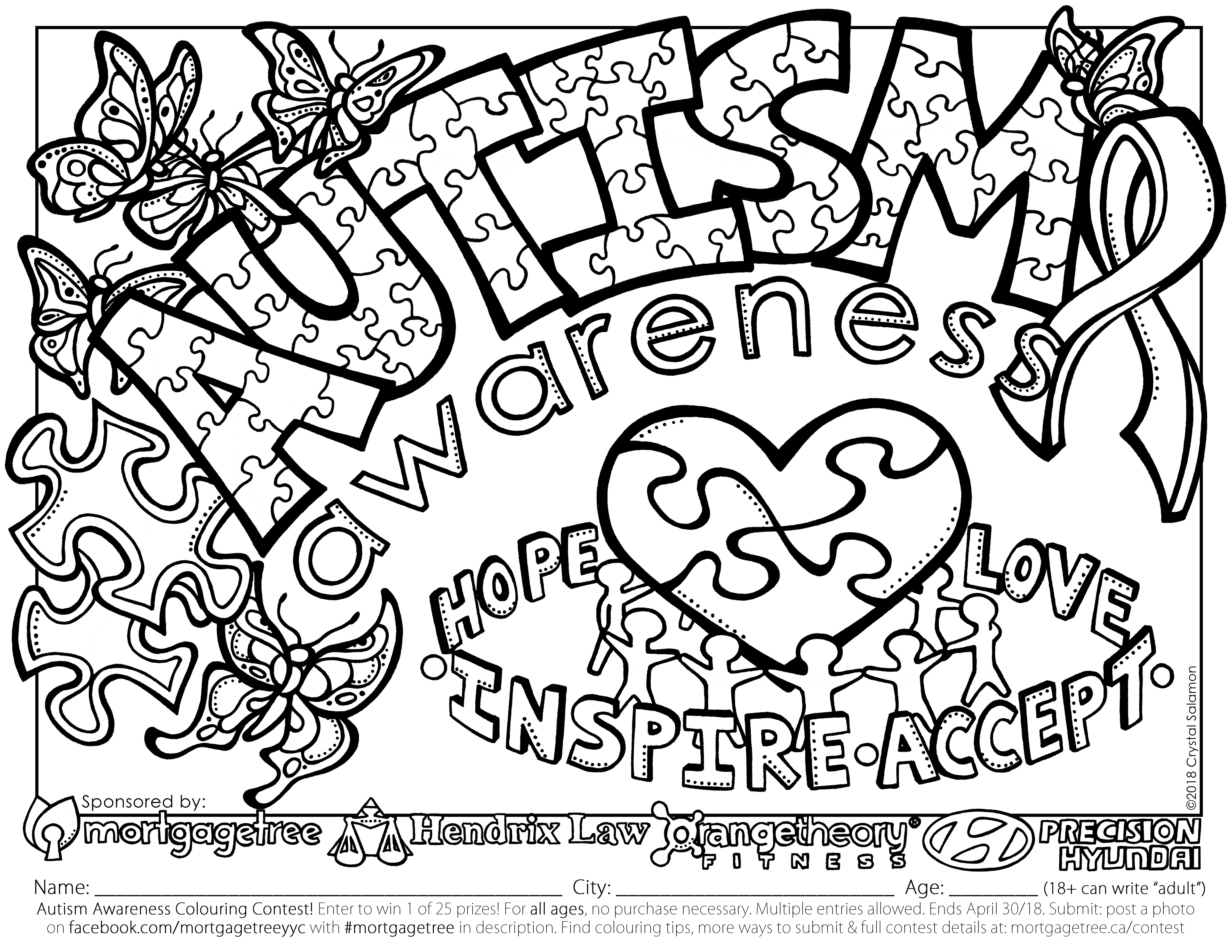 Autism Coloring Pages At Getdrawings
