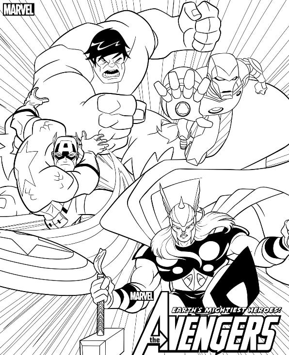 coloring pages avengers # 72