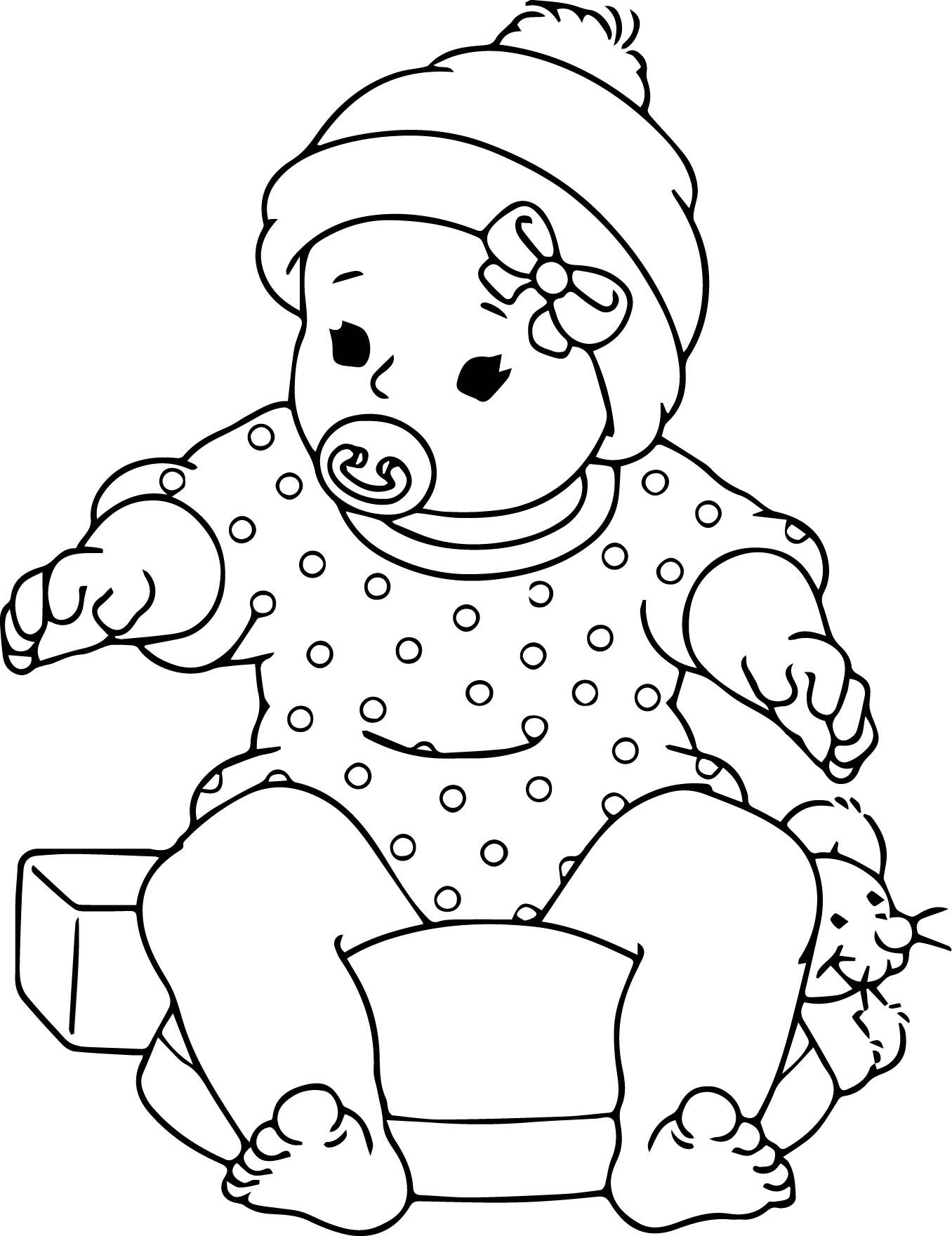 Baby Doll Coloring Page At Getdrawings