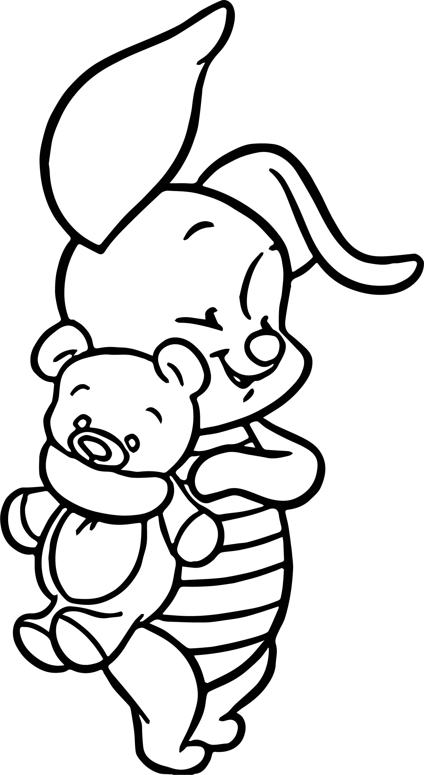 Cute Baby Winnie Cute Winnie The Pooh Coloring Pages Novocom Top