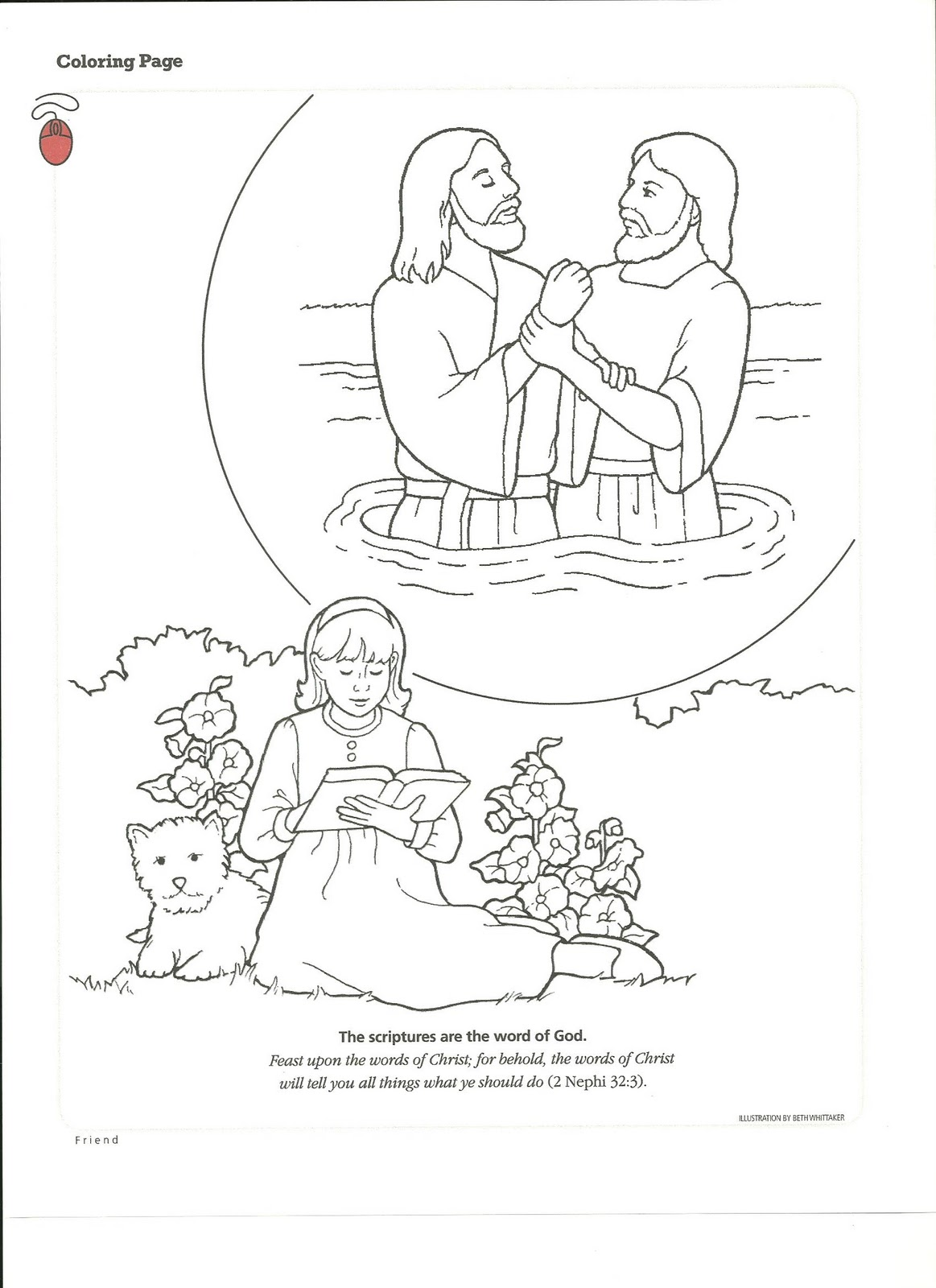 Baptism Coloring Pages Printables At Getdrawings