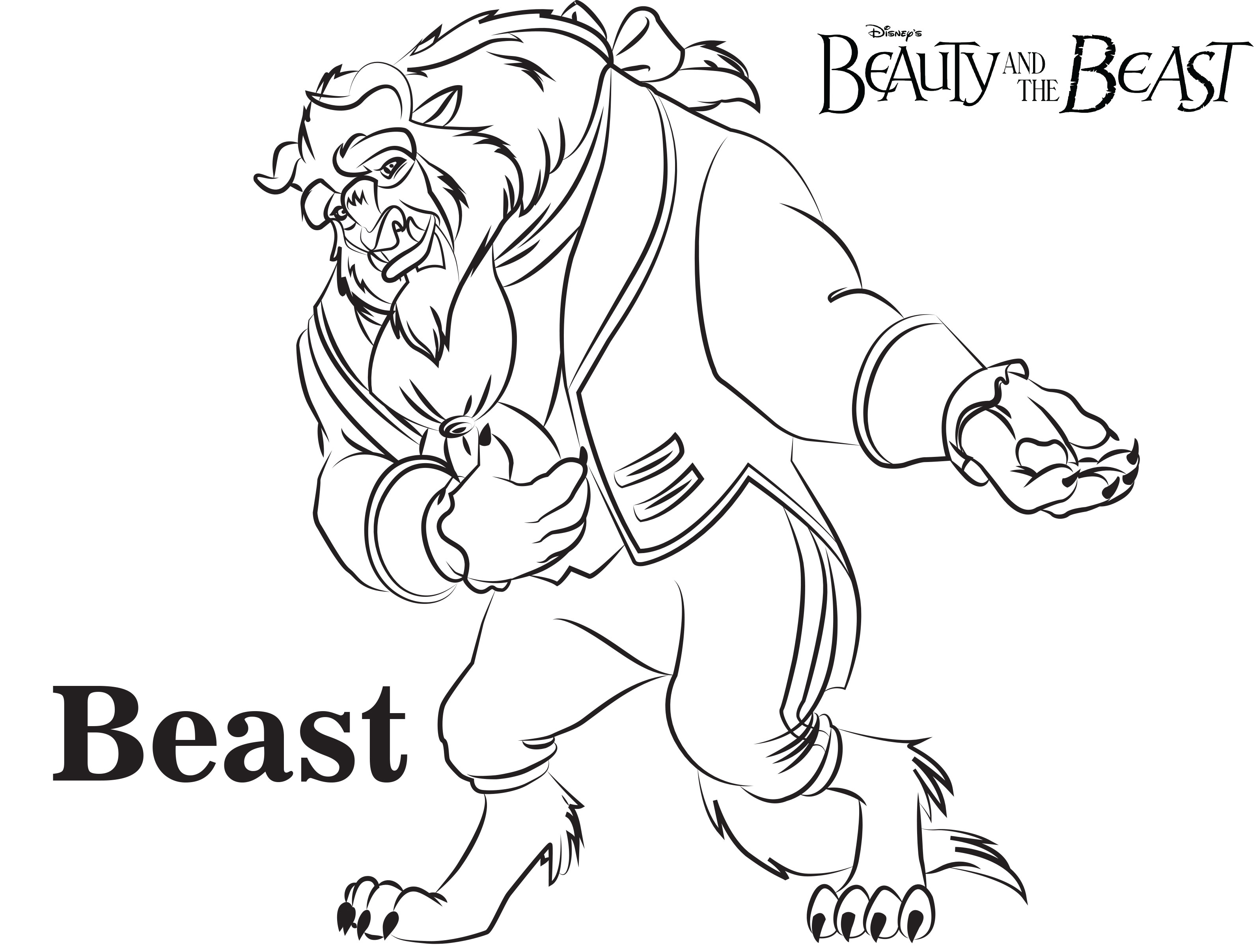 Beauty And Beast Coloring Pages At Getdrawings