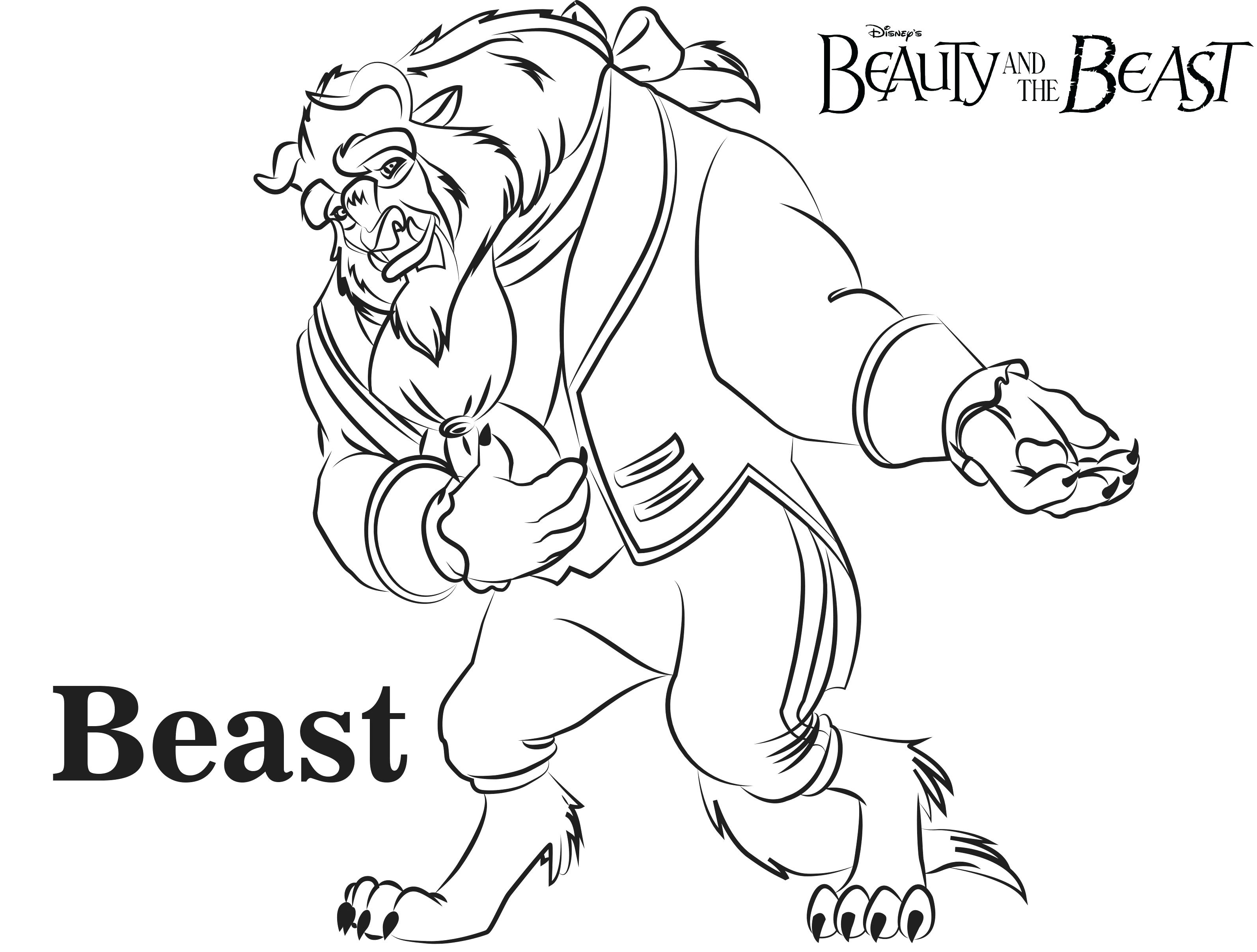 Beauty And The Beast Coloring Pages At Getdrawings