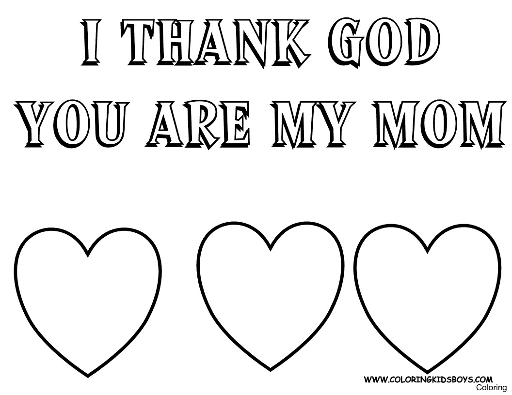 Best Mom Ever Coloring Pages At Getdrawings