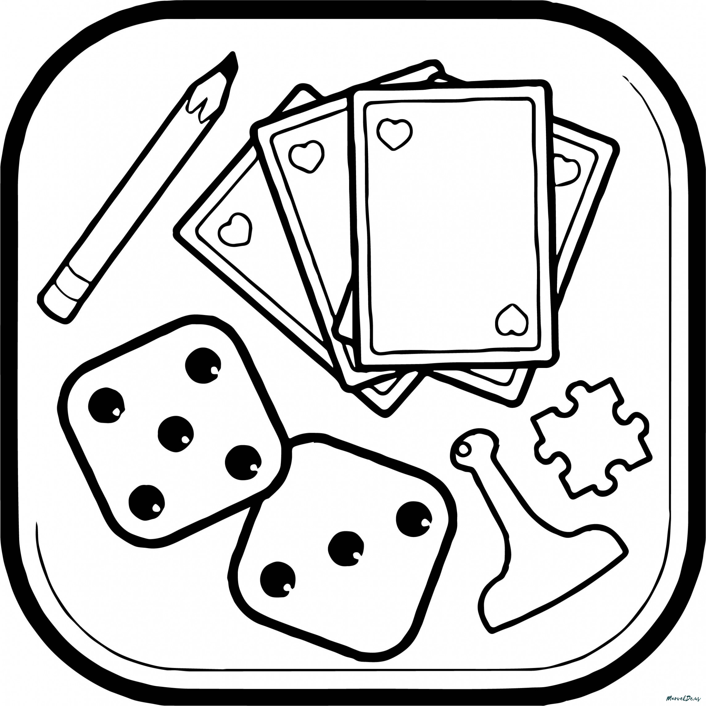 Board Game Coloring Pages At Getdrawings