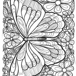 butterfly coloring pages for adults # 88