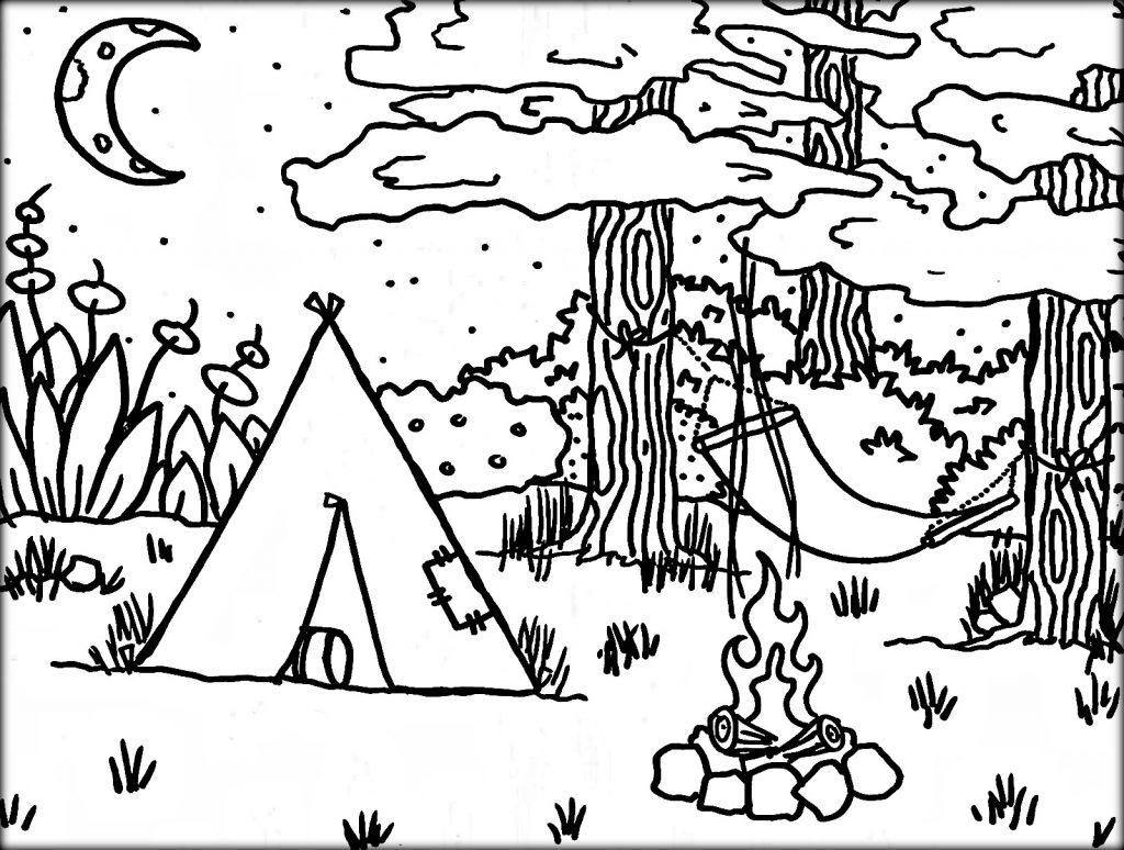Camping Coloring Pages Printable At Getdrawings