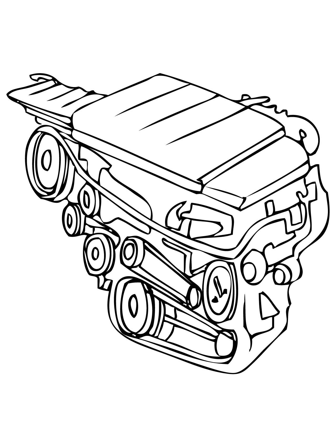 Car Parts Coloring Pages At Getdrawings