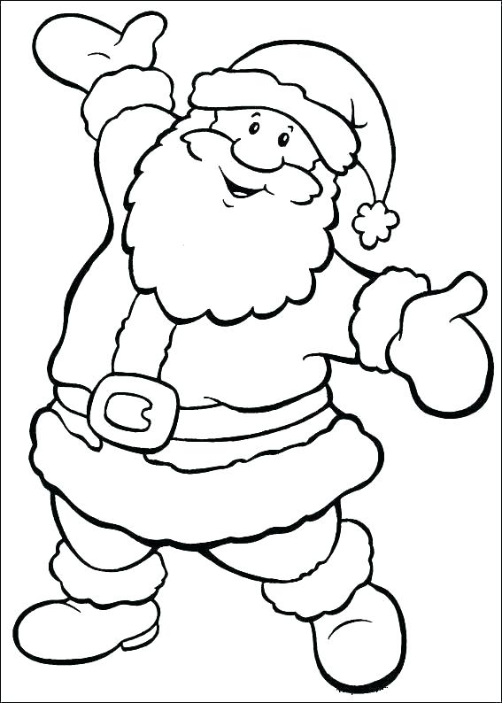 coloring pages of santa claus # 59