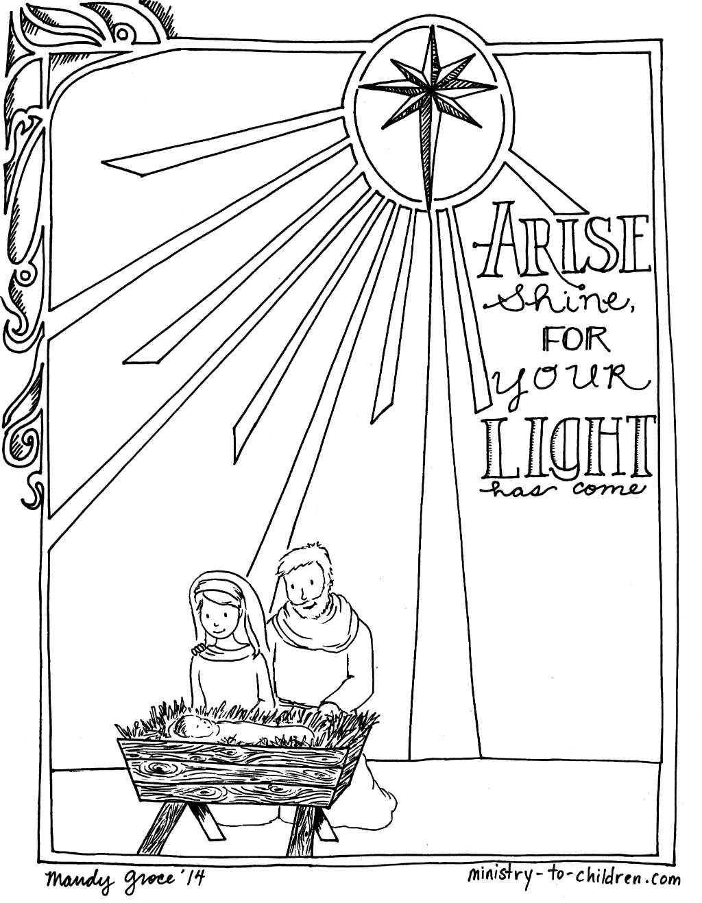 Christmas Manger Coloring Pages At Getdrawings