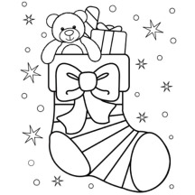 christmas stockings coloring pages # 30
