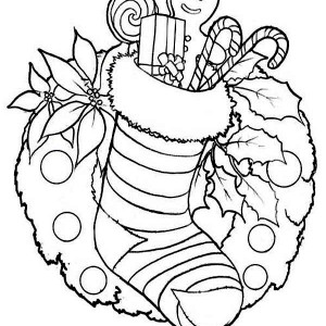 stocking coloring pages # 68