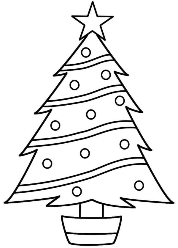 christmas trees coloring pages # 10