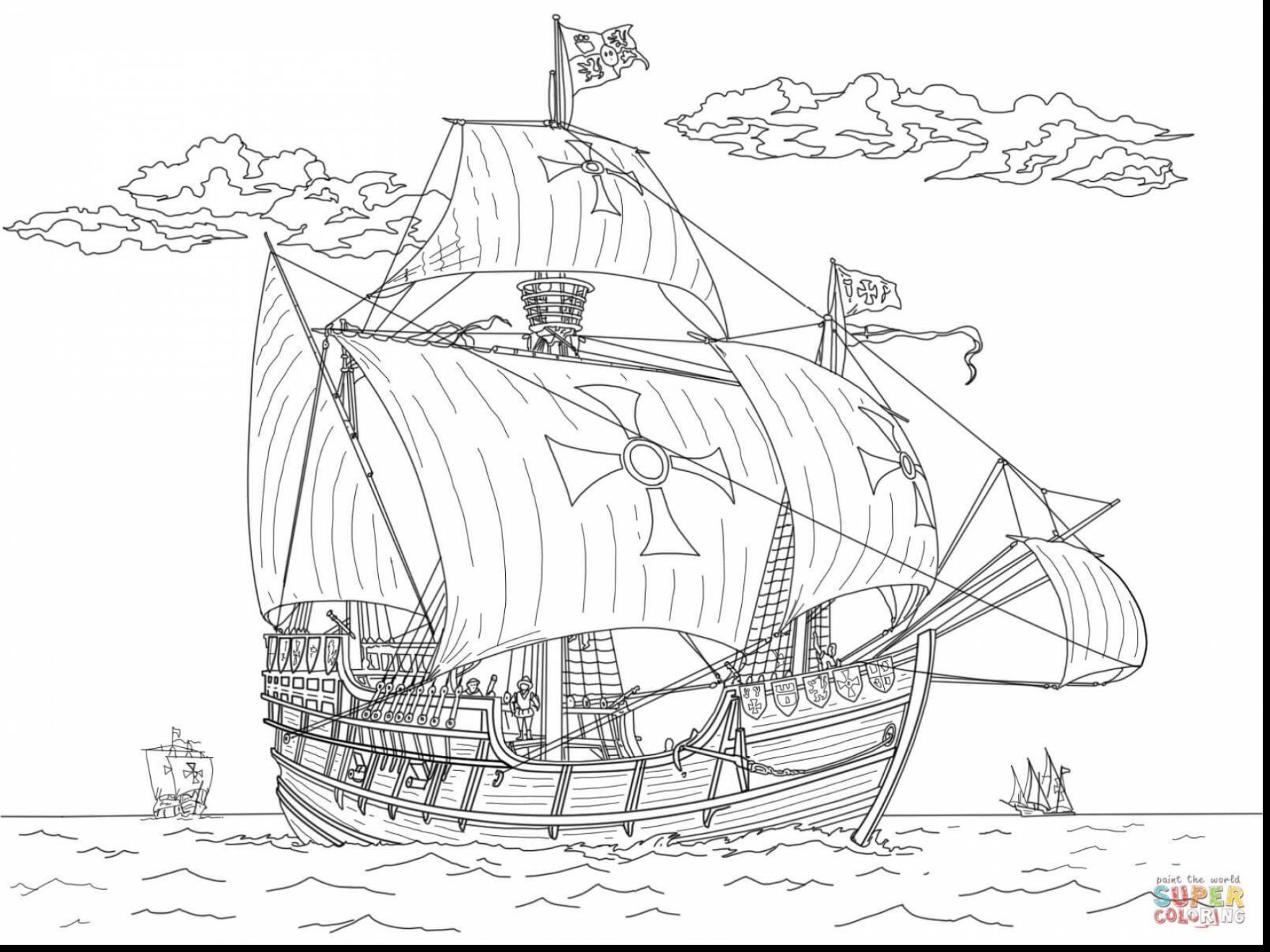Christopher Columbus Coloring Page At Getdrawings