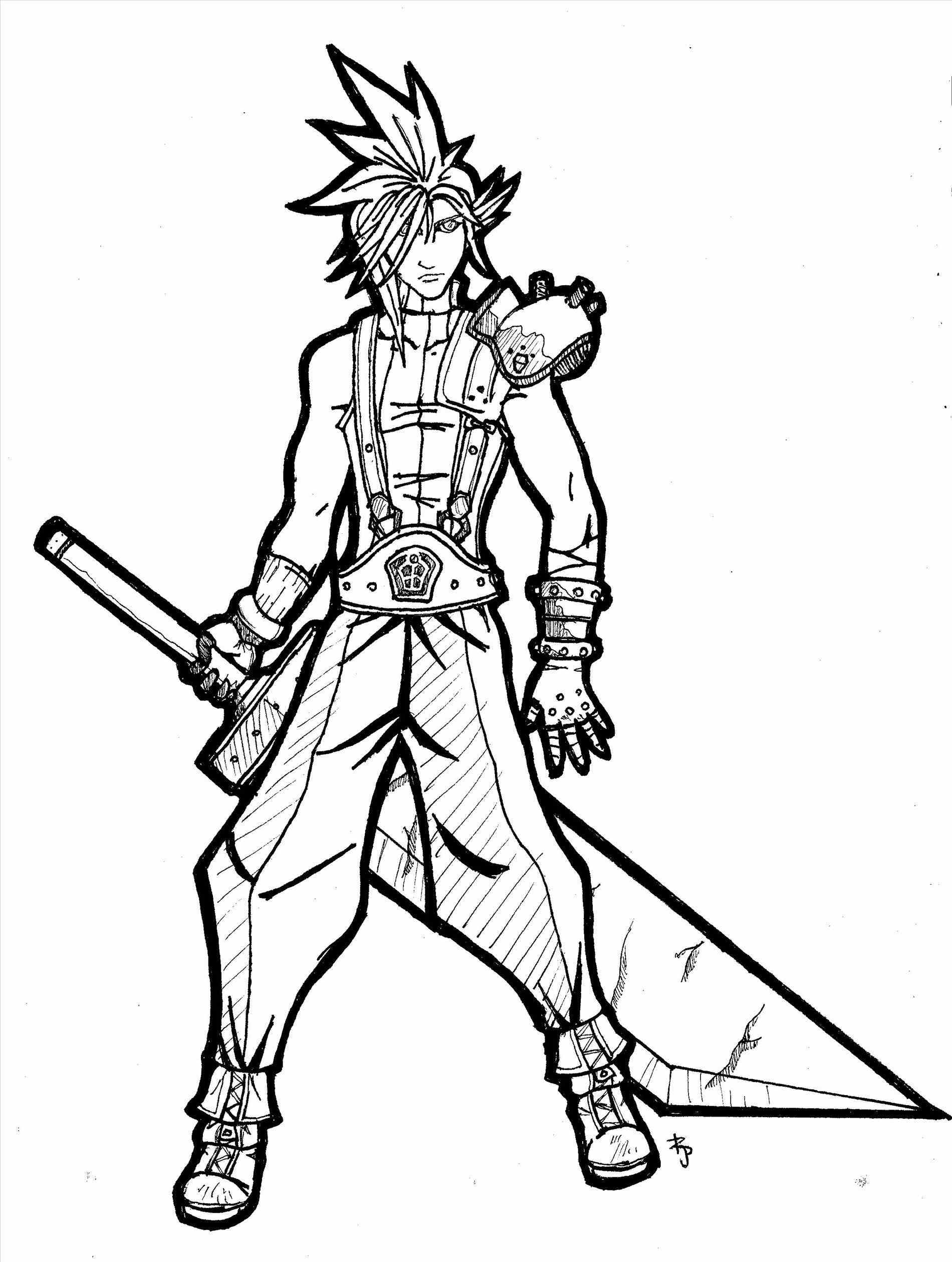 Cloud Strife Coloring Pages At Getdrawings