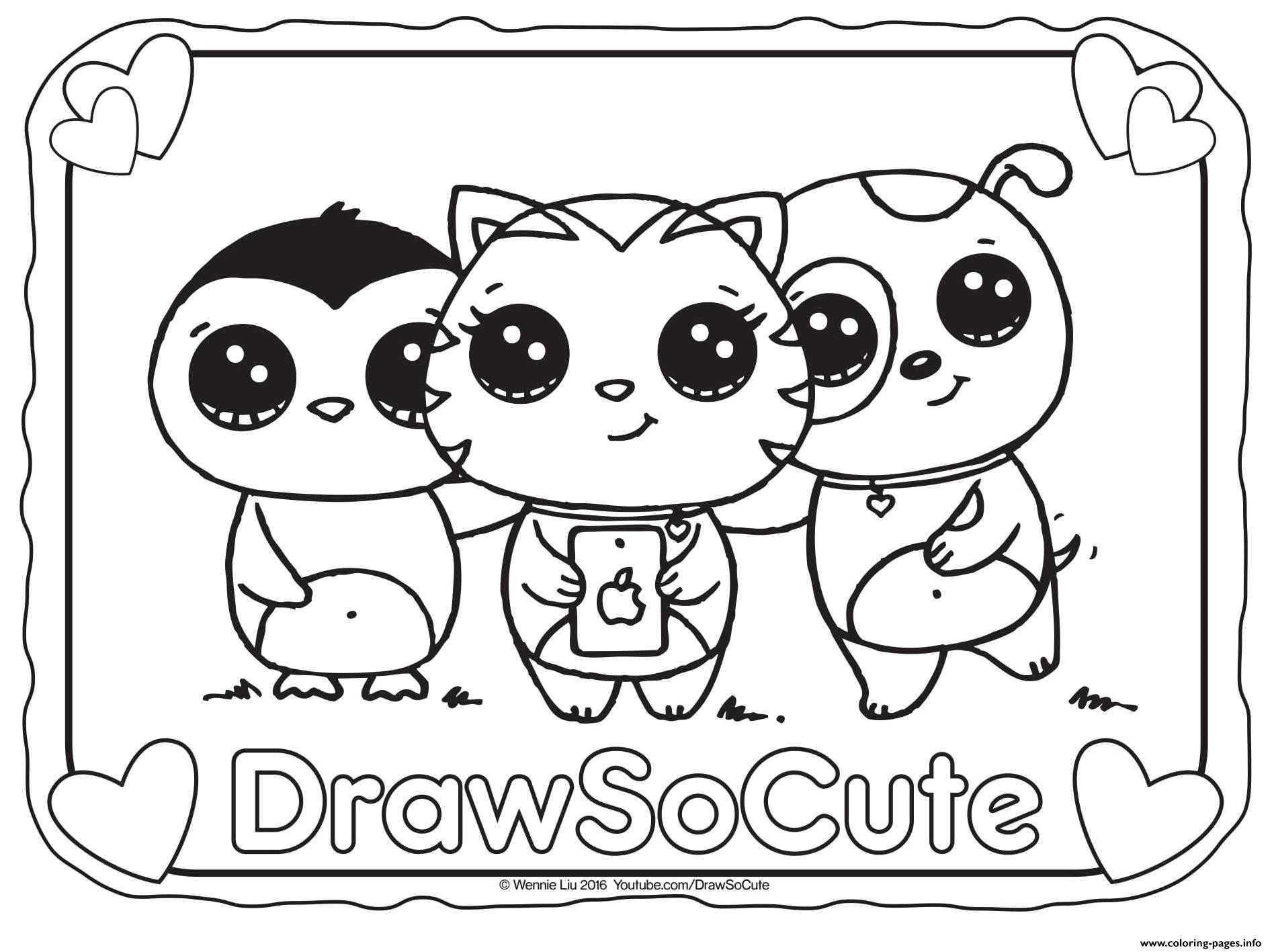 Coloring Pages Of Cute Things At Getdrawings