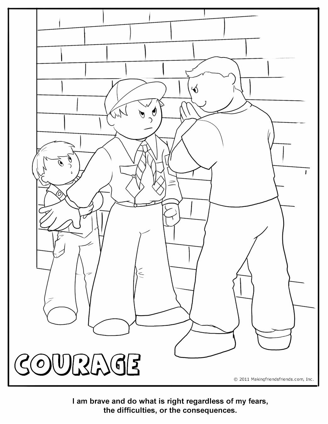 Courage Coloring Page At Getdrawings