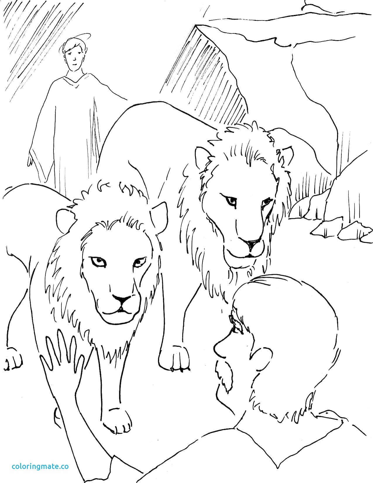 Daniel And The Lions Den Coloring Pages Free At