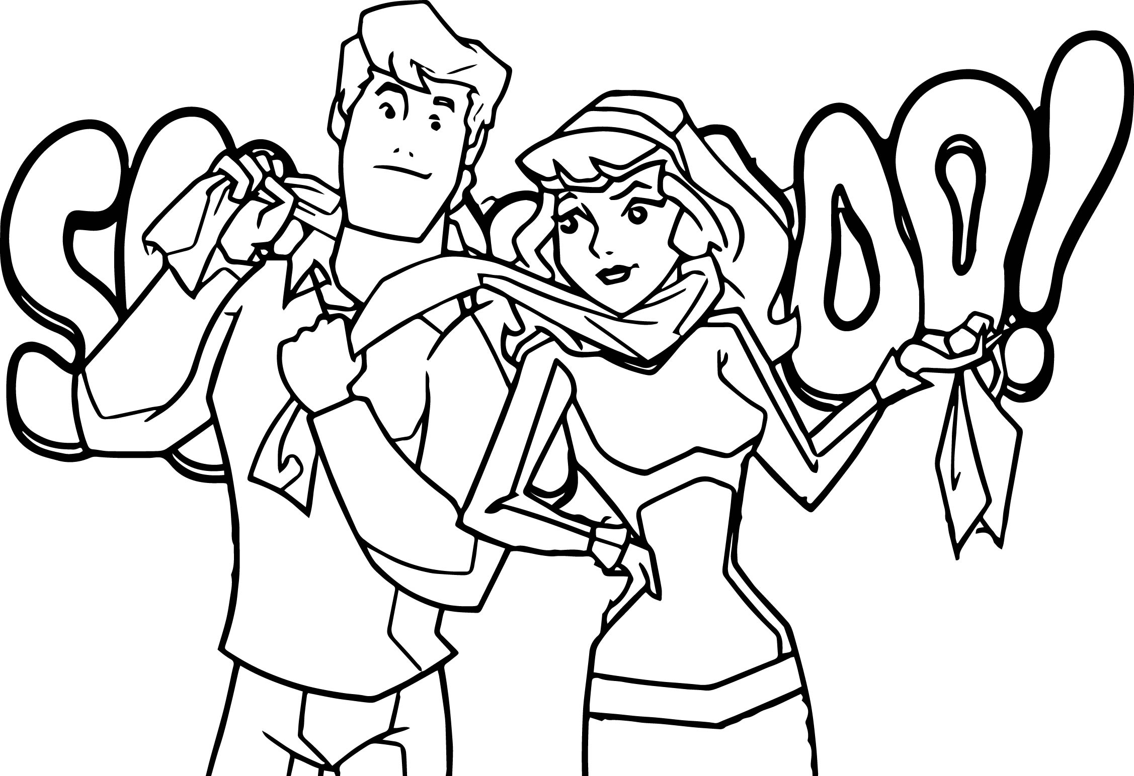 Daphne Scooby Doo Coloring Pages At Getdrawings