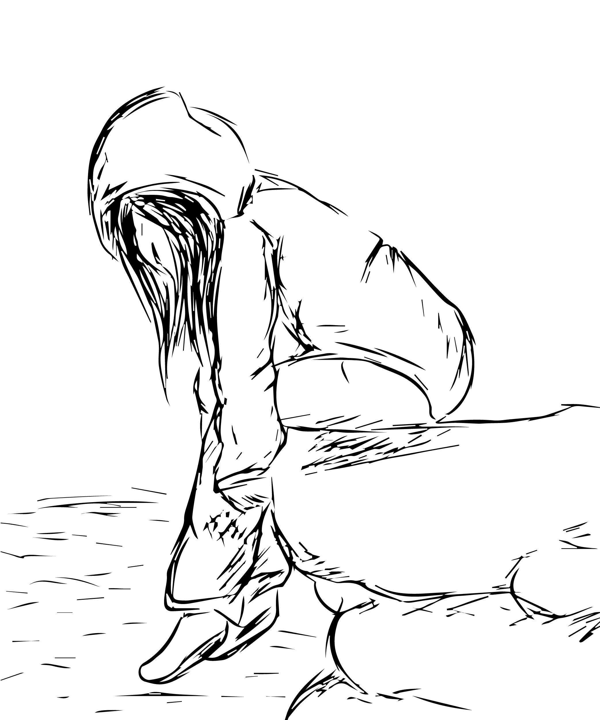 Depression Coloring Pages At Getdrawings