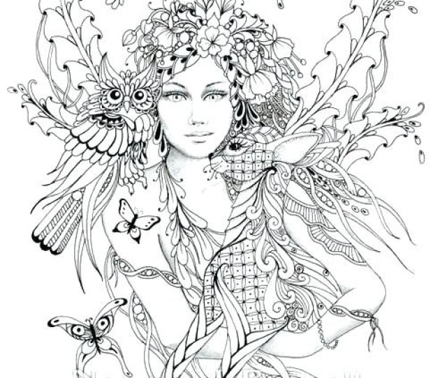 Detailed Fairy Coloring Pages At Getdrawings Free Download