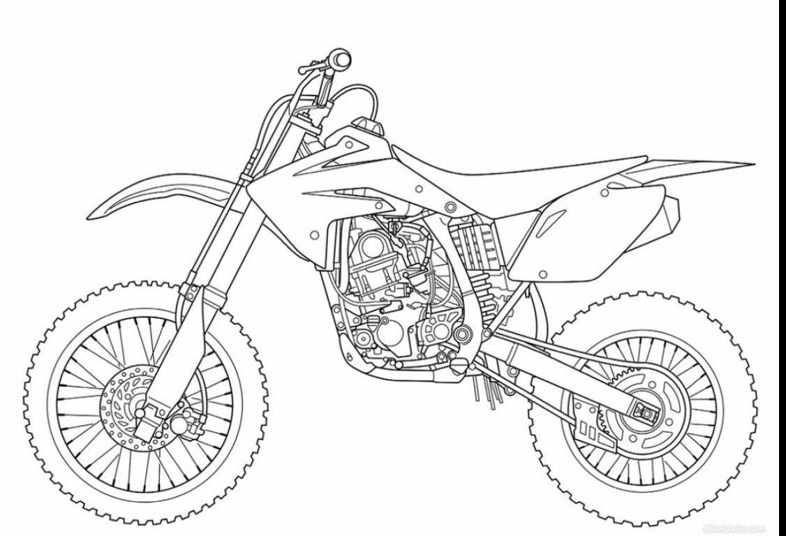 Dirt Bike Coloring Pages Printable At Getdrawings
