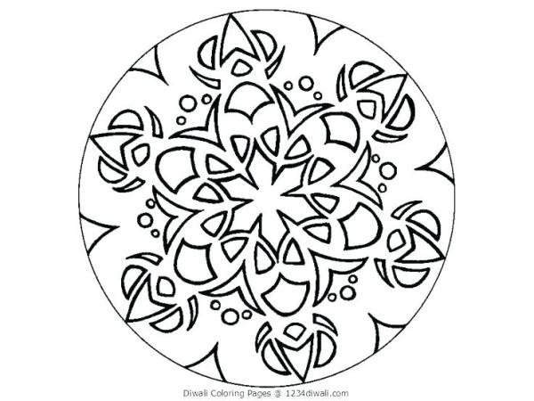 rangoli coloring pages # 36