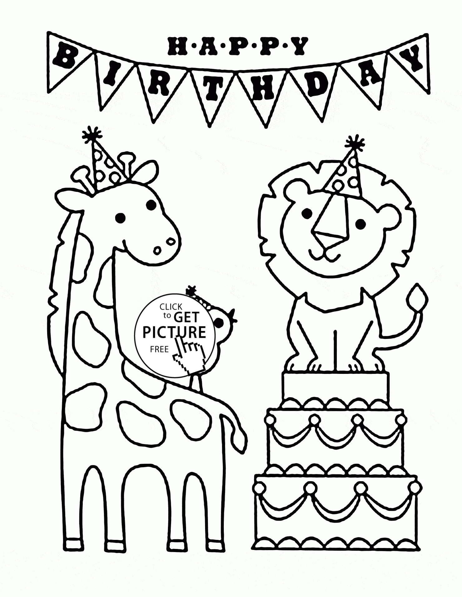 Dog Birthday Coloring Pages At Getdrawings