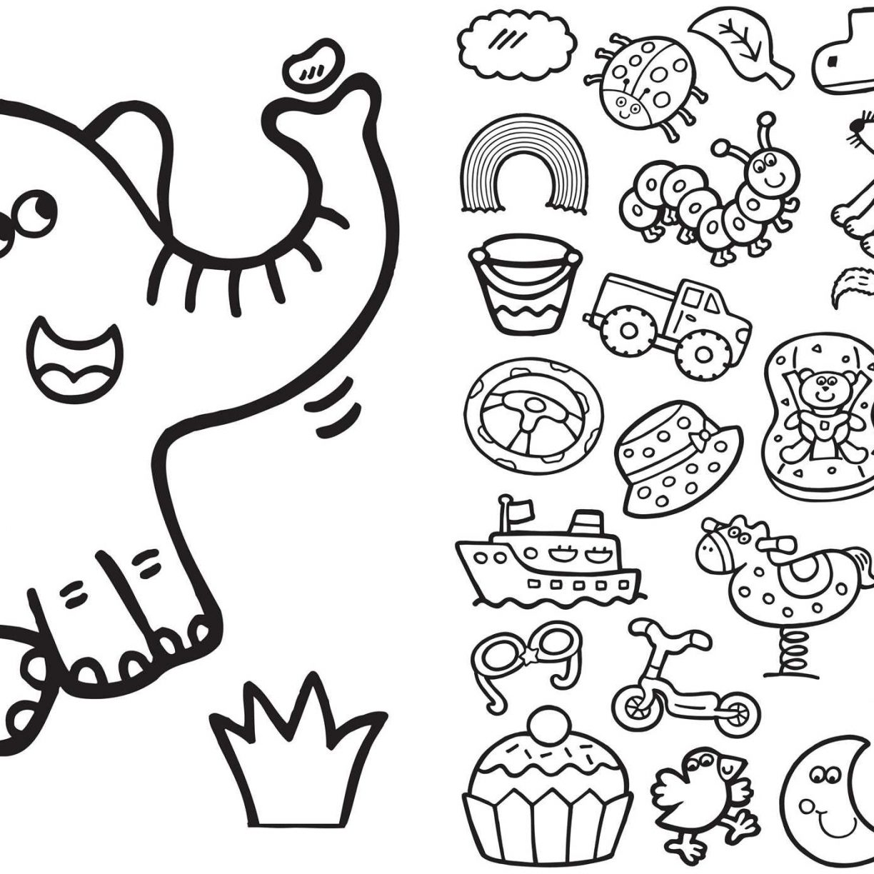 Easy Coloring Pages For 4 Year Olds At Getdrawings