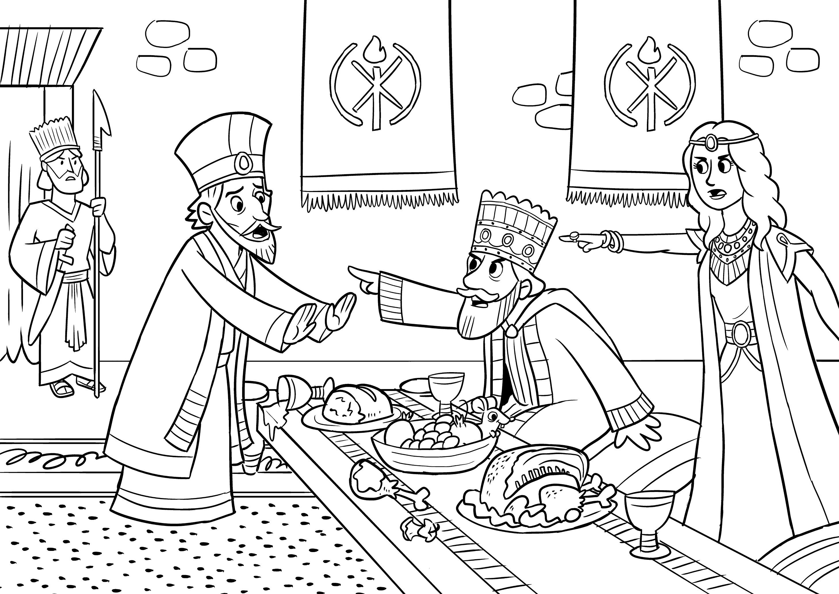 Esther Coloring Pages At Getdrawings
