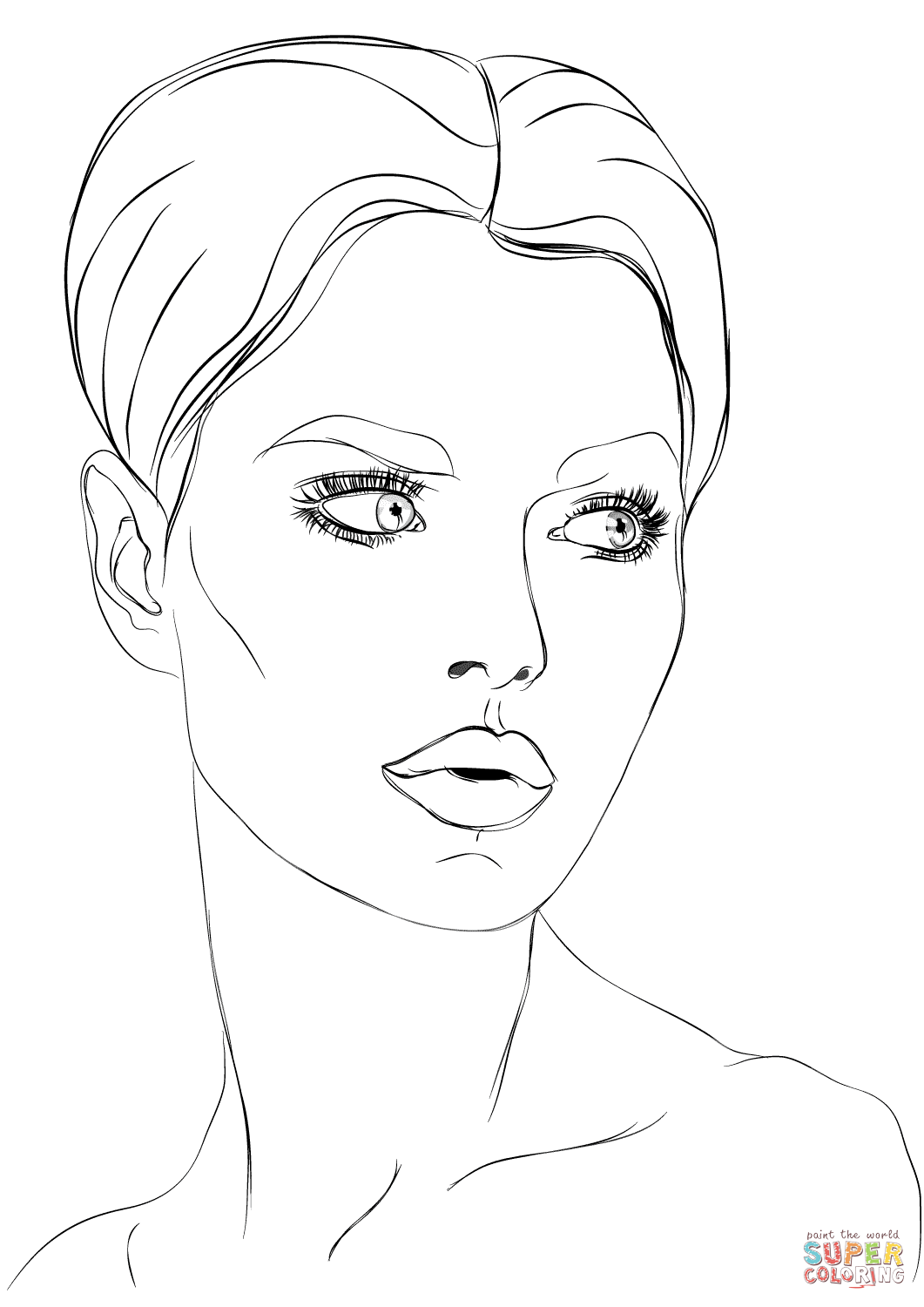 Face Coloring Pages Printable At Getdrawings