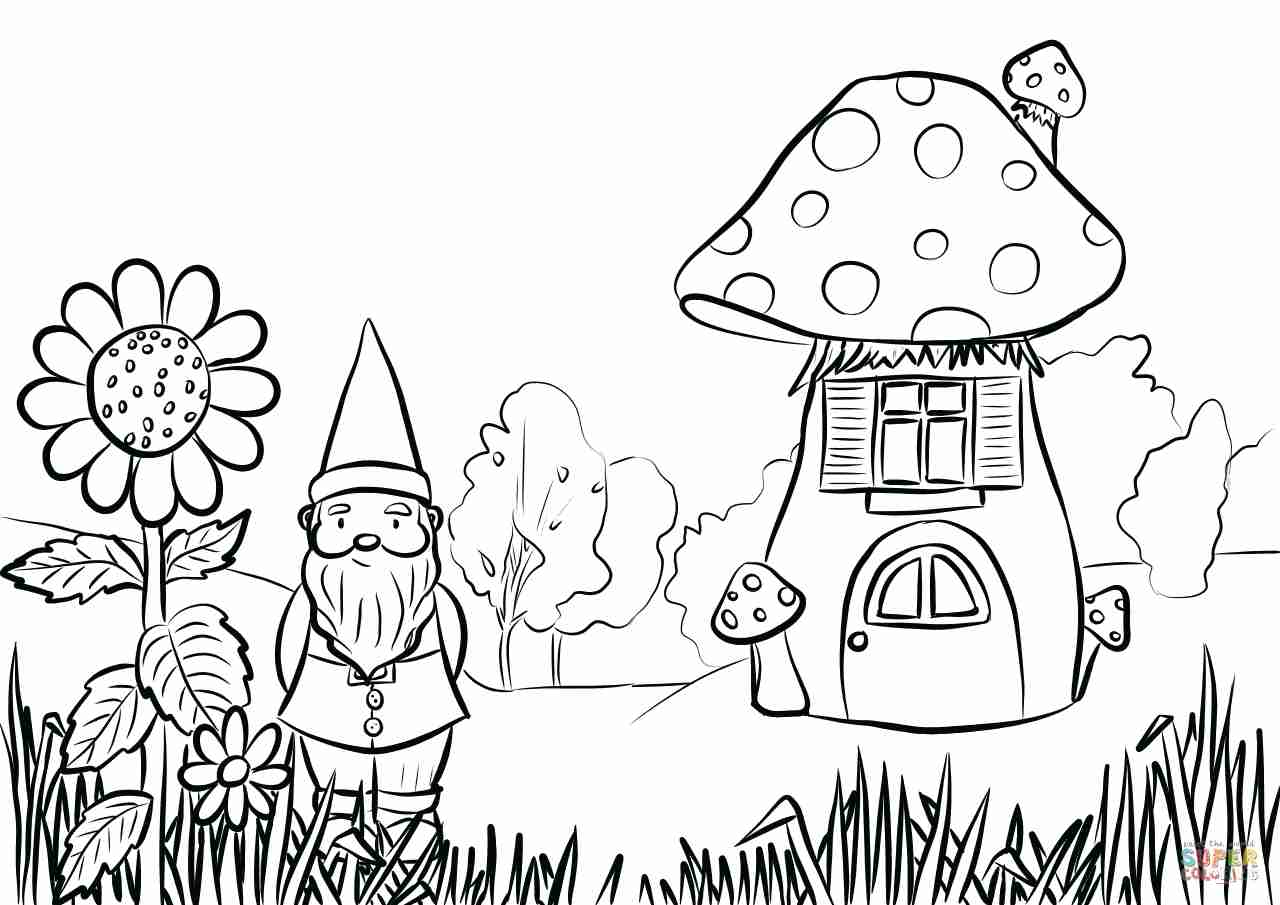 Fairy Garden Coloring Pages At Getdrawings