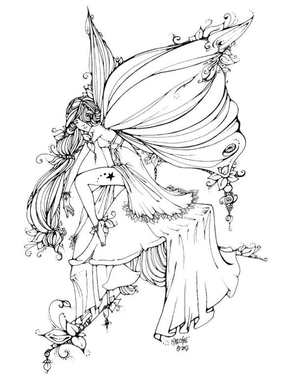 fantasy coloring pages for adults # 63