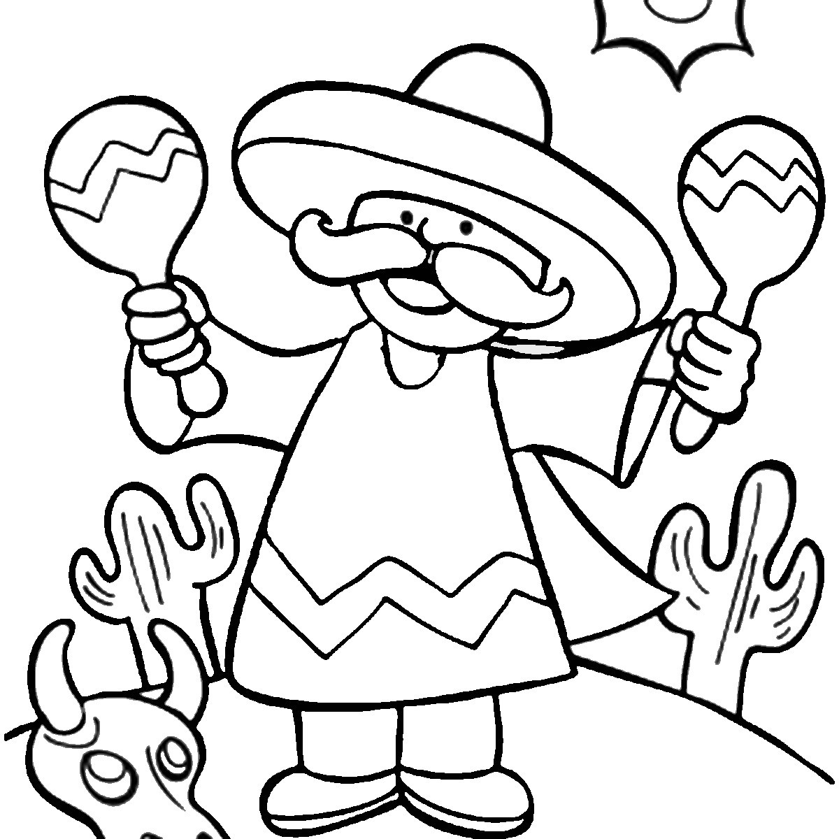 Fiesta Coloring Pages Free Printable At Getdrawings