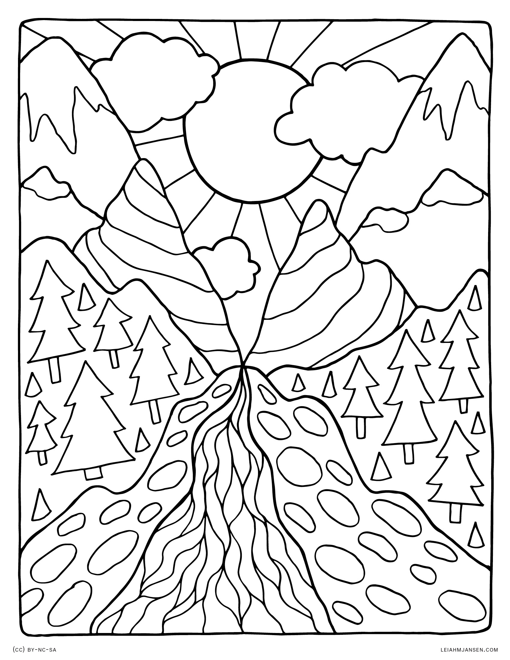 Free Coloring Pages Landscapes Printables At Getdrawings
