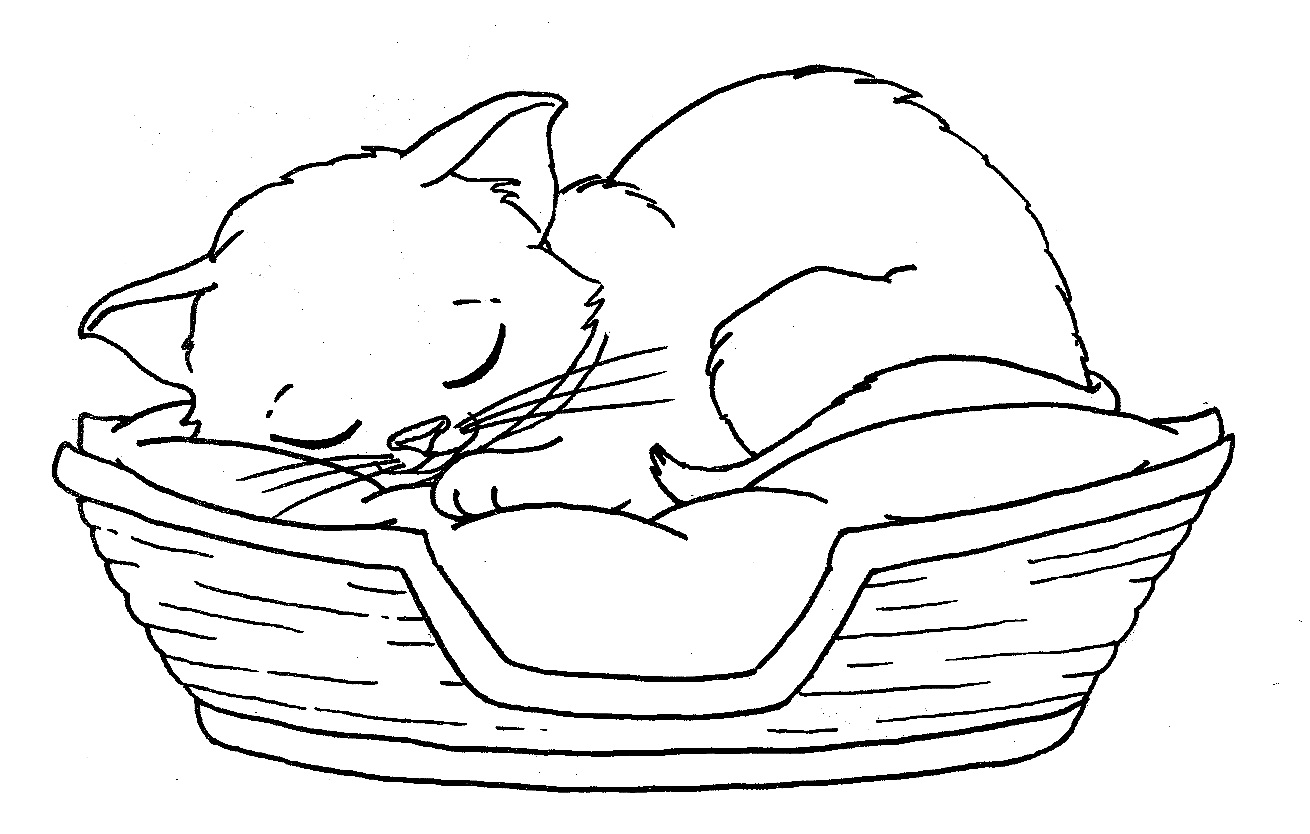 Free Coloring Pages Of Kittens And Puppies At Getdrawings