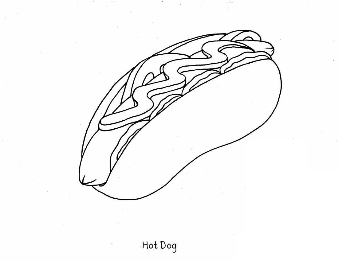 Free Food Coloring Pages To Print At Getdrawings