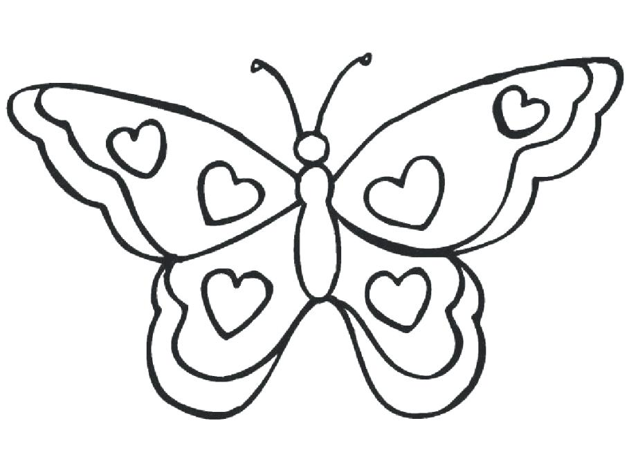 Butterfly Spring Coloring Pages Novocom Top