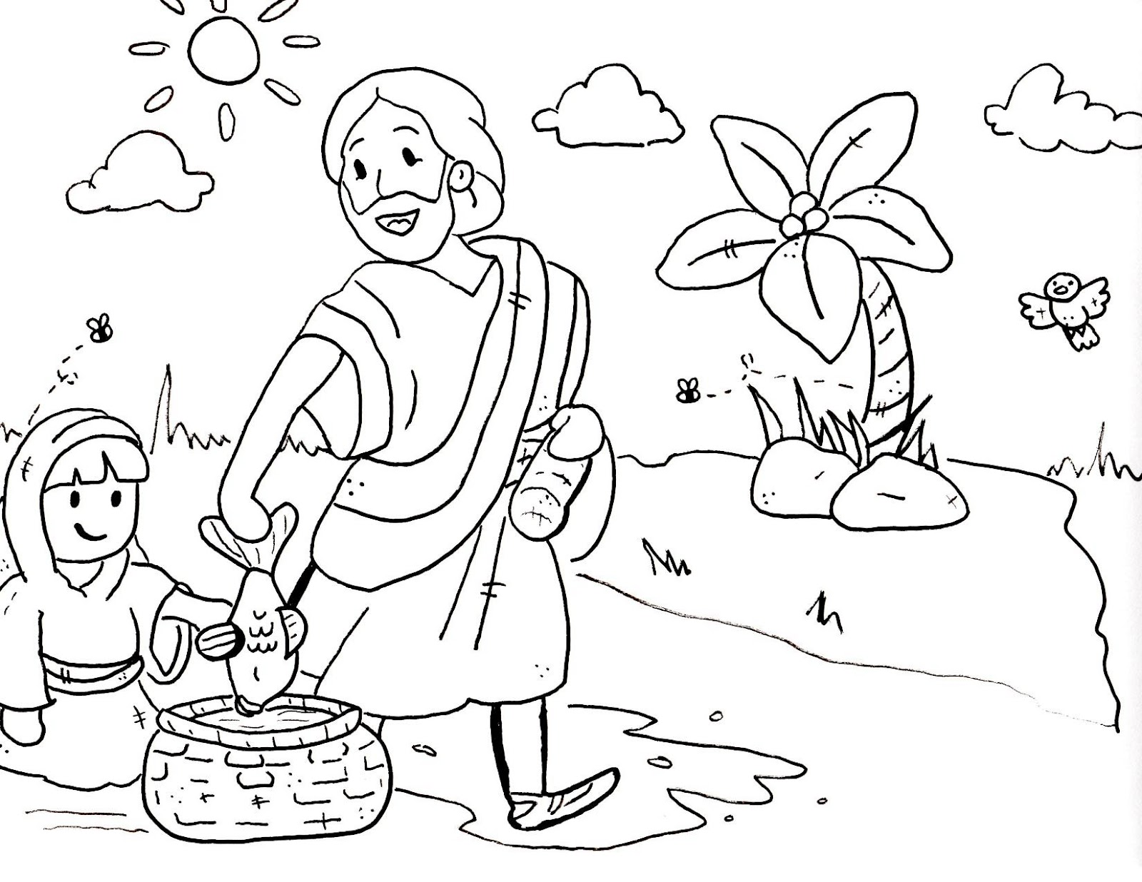 Free Printable Christian Coloring Pages For Preschoolers ... | bible coloring pages for preschoolers