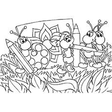 bug coloring page # 53