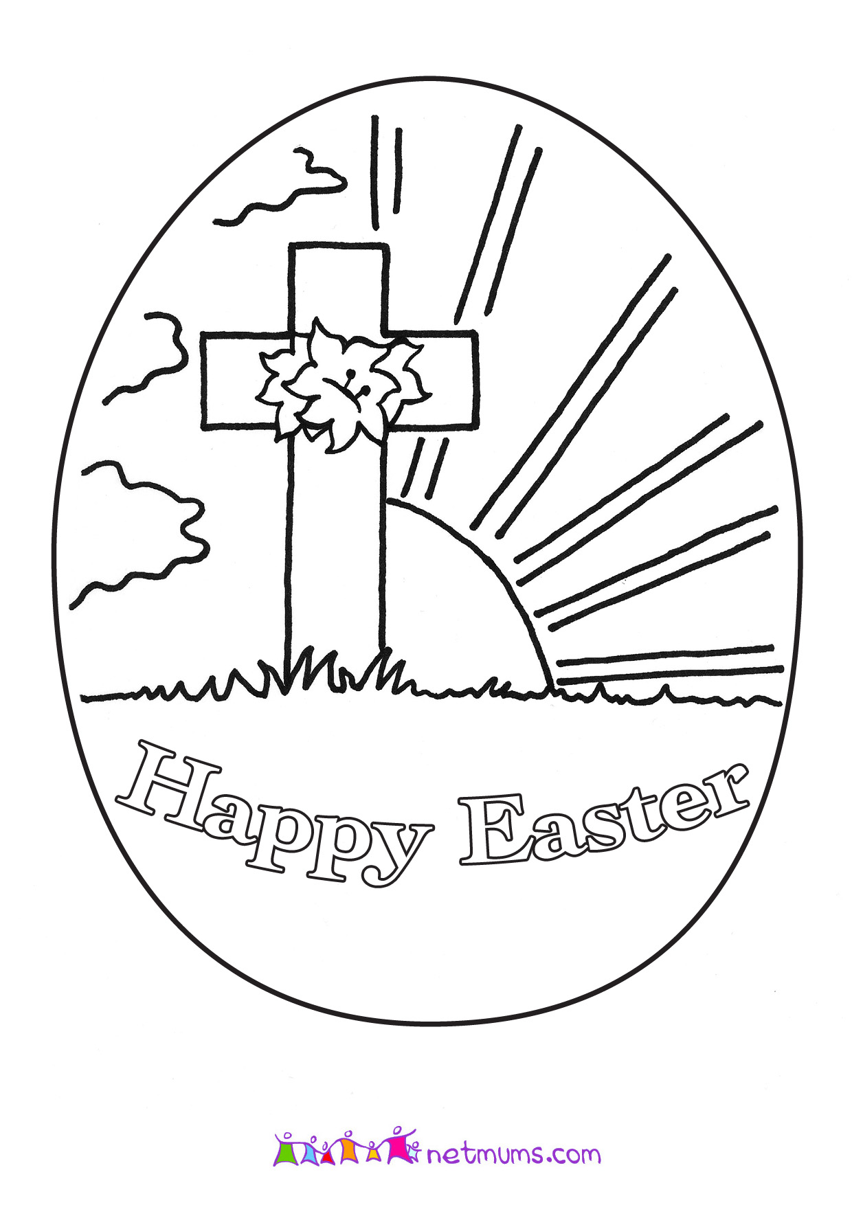 Free Printable Religious Easter Coloring Pages At