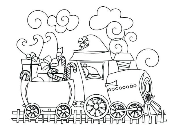 train coloring pages # 30