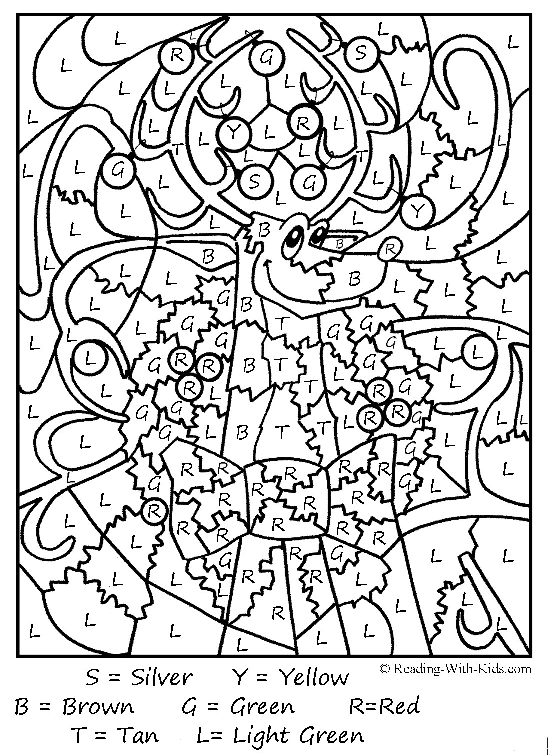 French Color By Numbers Coloring Pages At Getdrawings