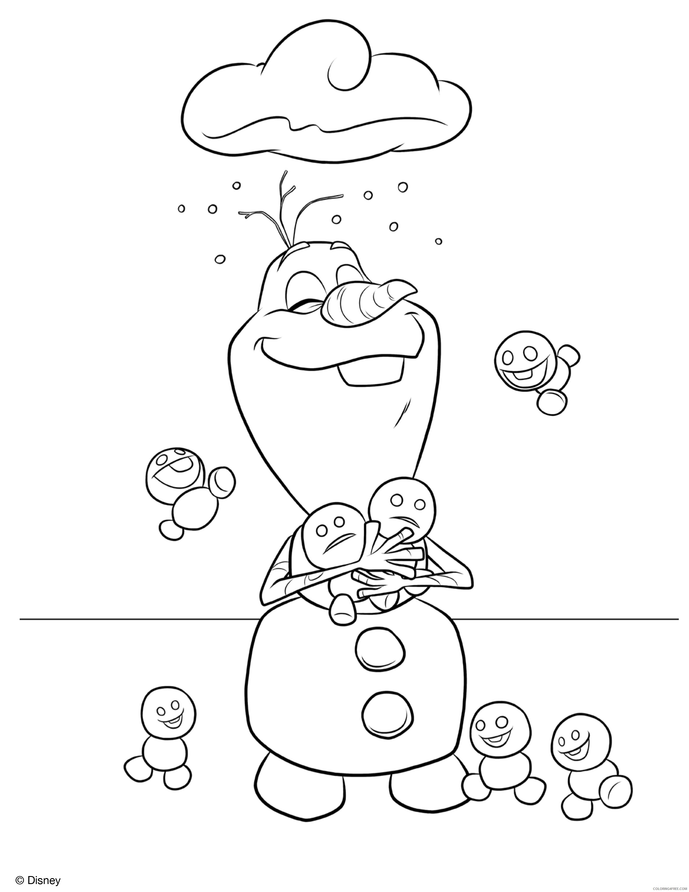 Frozen Olaf Coloring Pages At Getdrawings