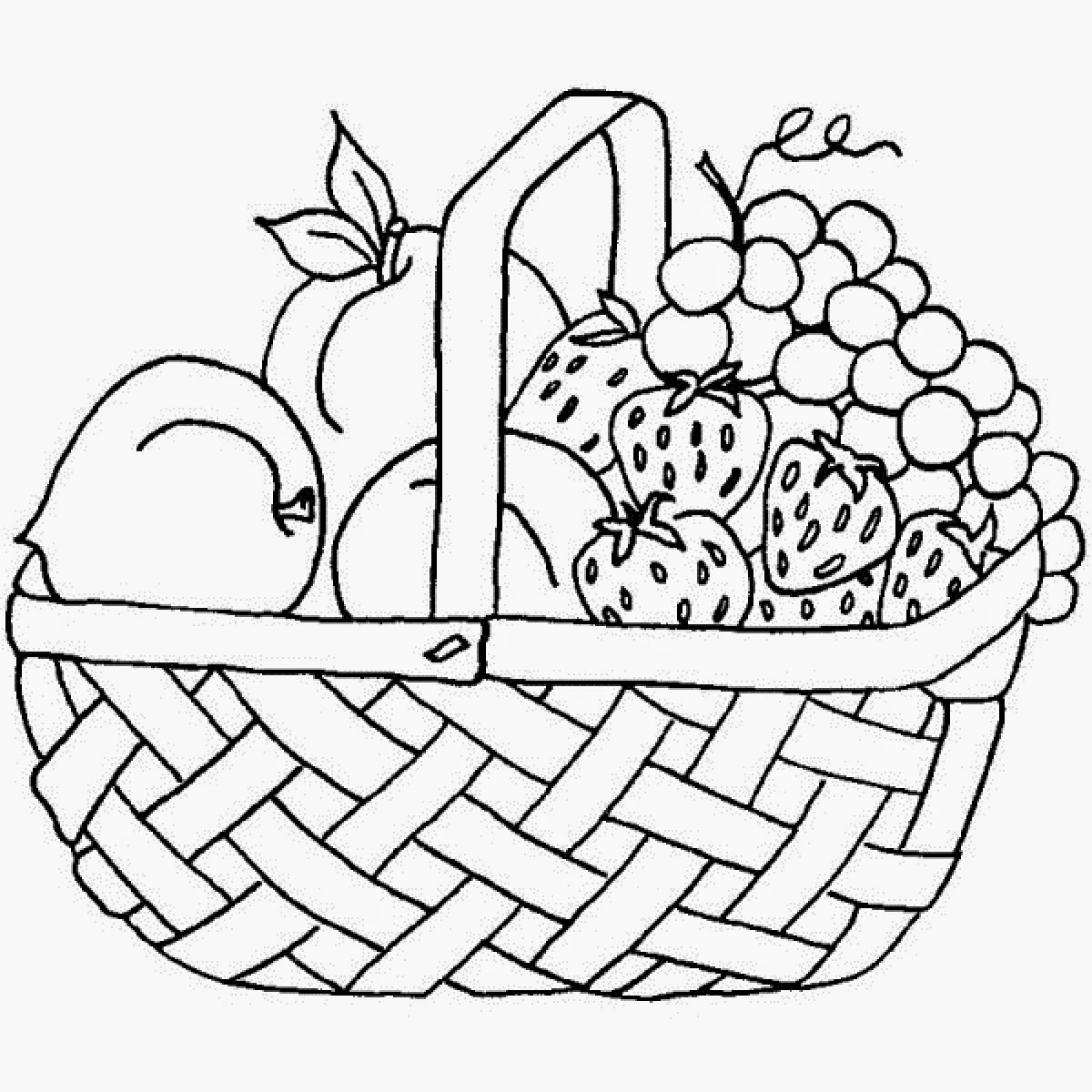 Fruit Basket Coloring Pages At Getdrawings