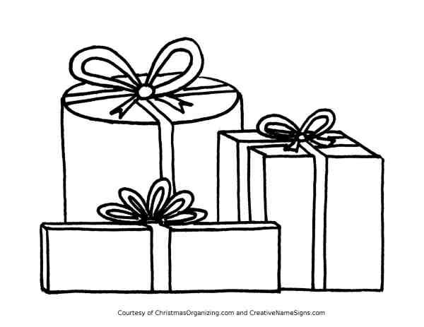 christmas present coloring pages # 34