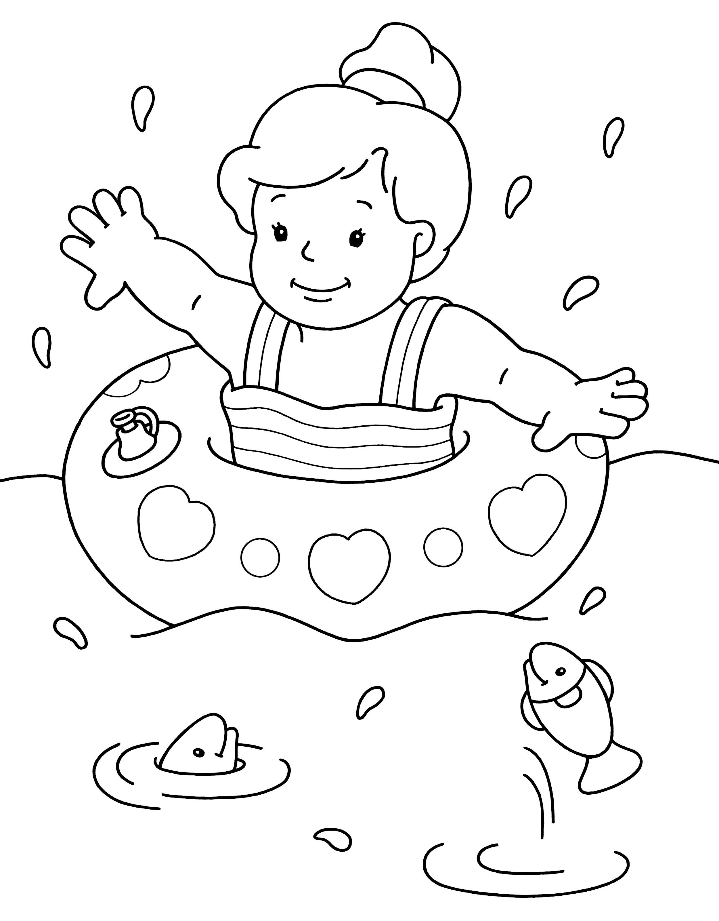Girl Swimming Coloring Pages At Getdrawings