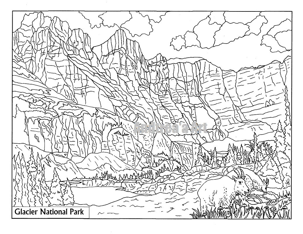 Glacier Coloring Pages At Getdrawings