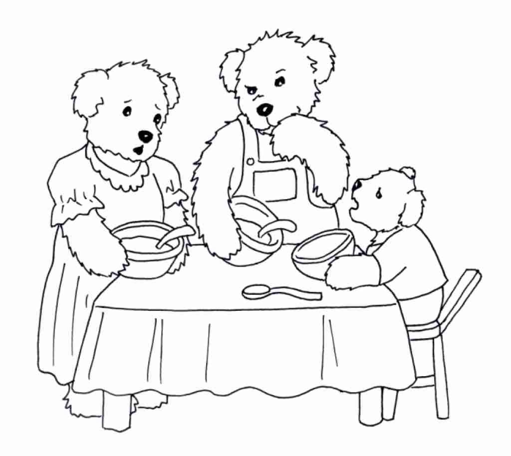 Goldilocks And The Three Bears Coloring Page At